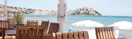 Restaurant le Bout du Monde  - Vue sur la citadelle de Calvi -   © Proxicrea