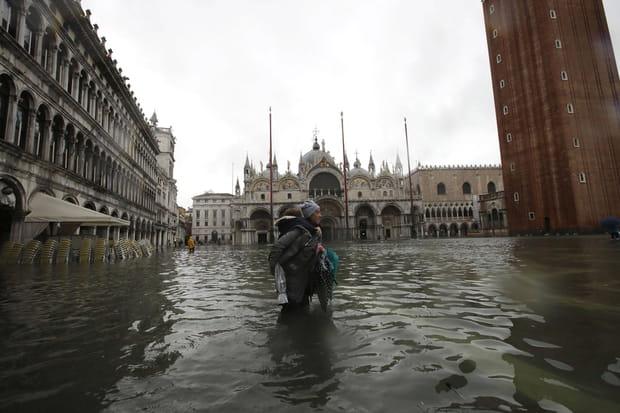 Les images impressionnantes de l'inondation historique à Venise