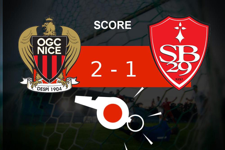 Nice - Brest: coup dur pour le Stade Brestois (2-1), revivez les moments clés du match