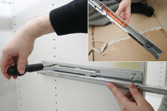 rail et amortisseur de tiroir