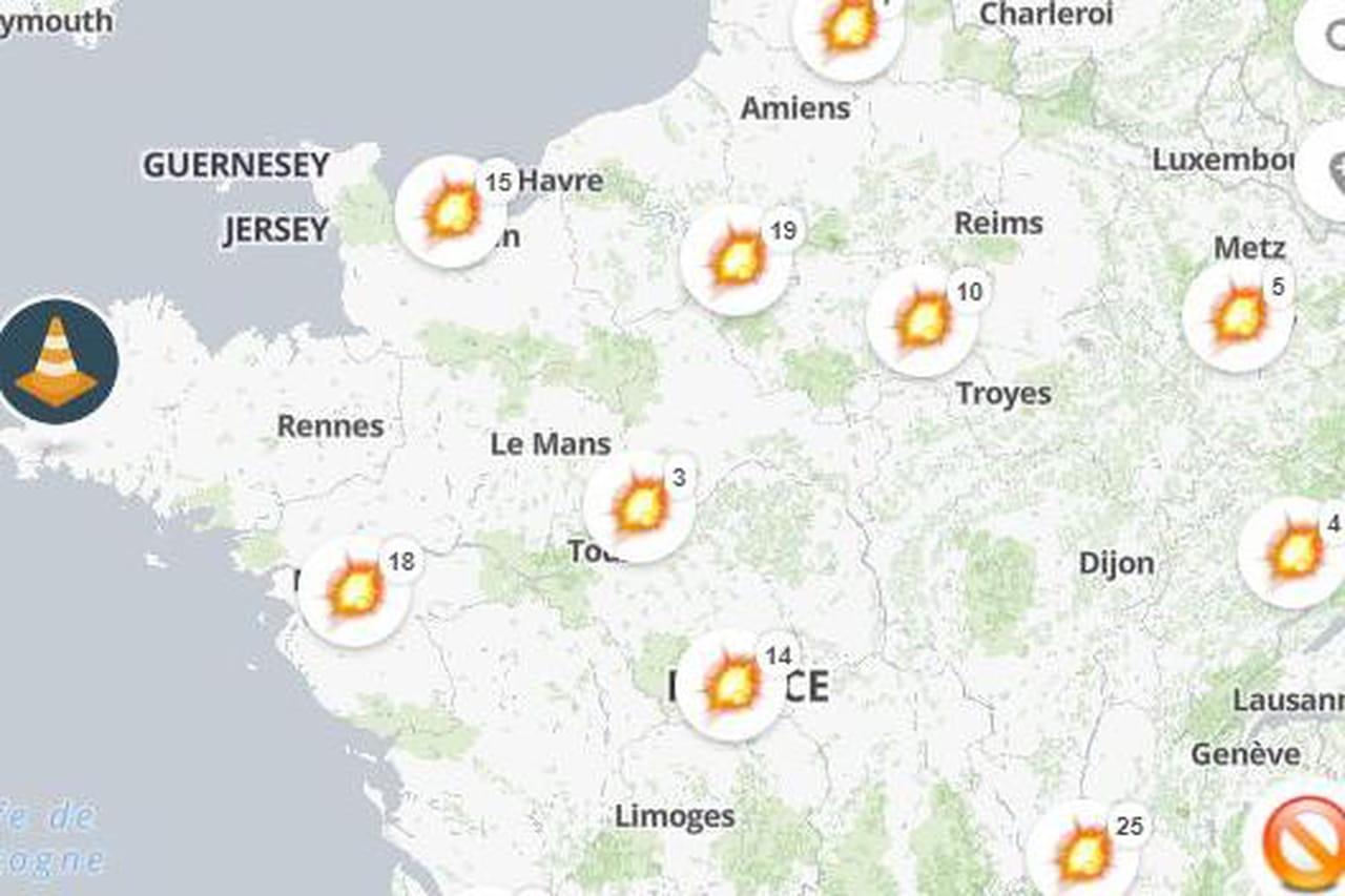 Carte Blocage 17 Novembre Bourgogne.Article Similaire A Blocage 17 Novembre La Carte Des Blocages