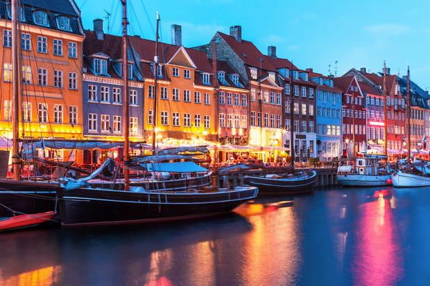 Les maisons colorées de Copenhague