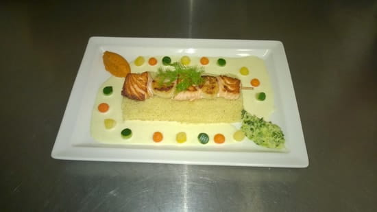 Le Bistrot Gourmand  - Brochette Saumon et Noix de St Jacques -