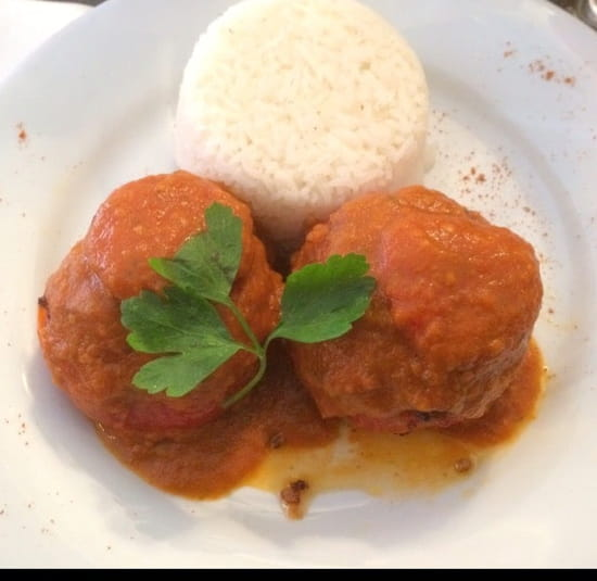 Plat : Brasserie de la Bourse  - Tomates farcies au riz -
