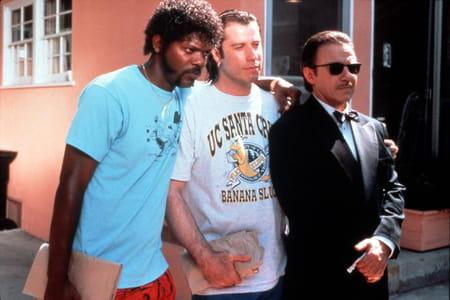 Samuel L. Jackson, John Travolta et Harvey Keitel dans le film Pulp Fiction
