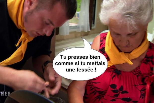 """Norbert à Simone: """"Tu presses bien comme si tu mettais une fessée!"""""""