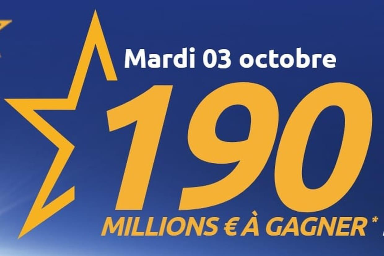Le superjackpot de ce soir passe à 190 millions, son maximum — Euromillions