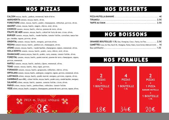 Le Piano Des Pizzas Chez Maza  - Nouvelle Carte -   © By Maza