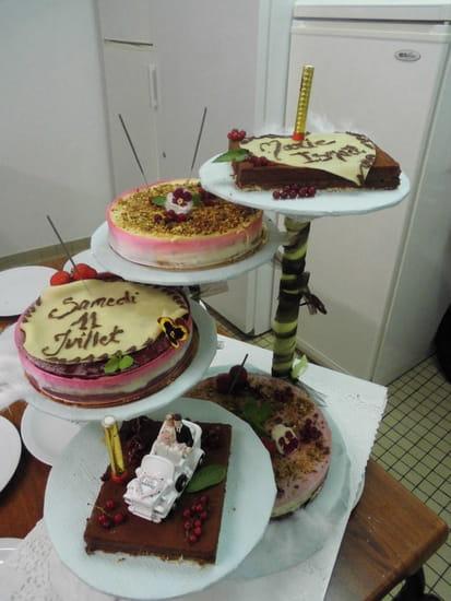 La Clef des Champs  - présentation de gâteau de mariage -