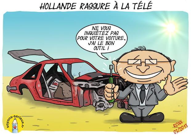 Fran ois hollande la t l vision - Francois l embrouille garagiste ...