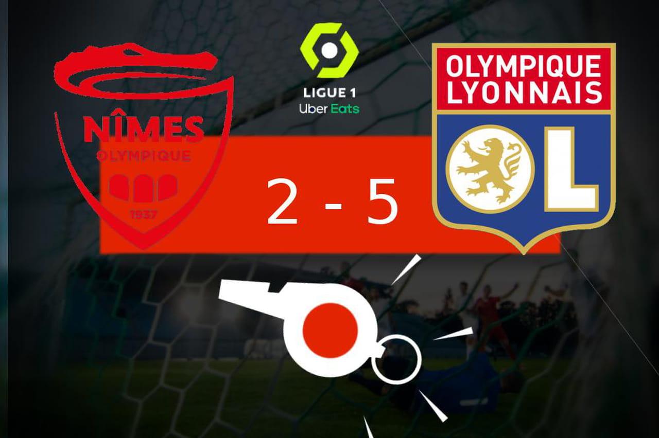 Nîmes - Lyon: lOlympique Lyonnais en démonstration à lextérieur, le résumé
