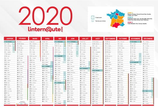 Jours fériés 2020: quels jours poserpour plus de vacances? Dates et calendrier