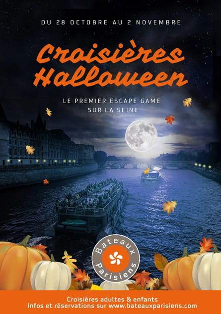 Les croisières Halloween des Bateaux Parisiens