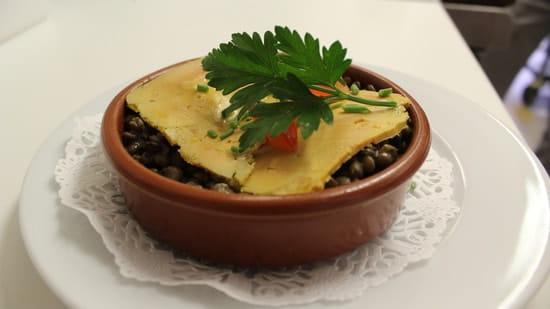 La Chalosse  - caviar de lentilles au foie gras -   © chalosse
