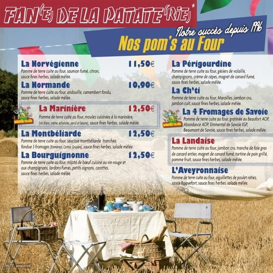 La Pataterie  - Carte La Pataterie Lannion  -   © La Pataterie Lannion