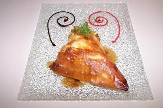 Restaurant le 8  - Feuillantine de confit de canard aux pommes caramélisées -   © Audy Jérôme