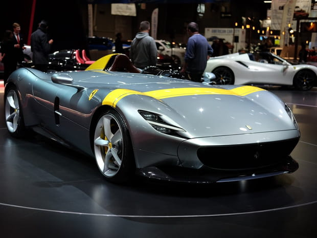 Les photos des bolides Ferrari Monza SP1et SP2au Mondial de l'Auto