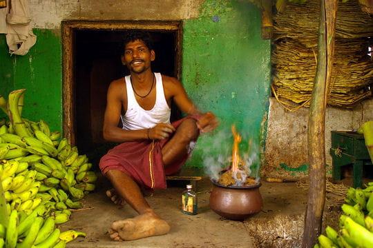 Le marché aux bananes