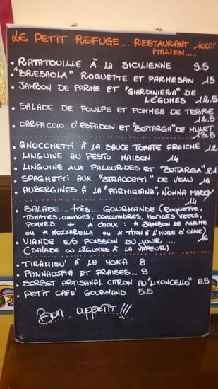 Il piccolo rifugio  - la carte d'été -