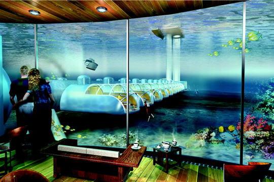 Poséidon: un hôtel dans le corail