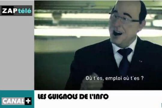 "François Hollande : ""Emploi où t-es?"", lechef del'Etat ridiculisé parLesGuignols [VIDÉO]"