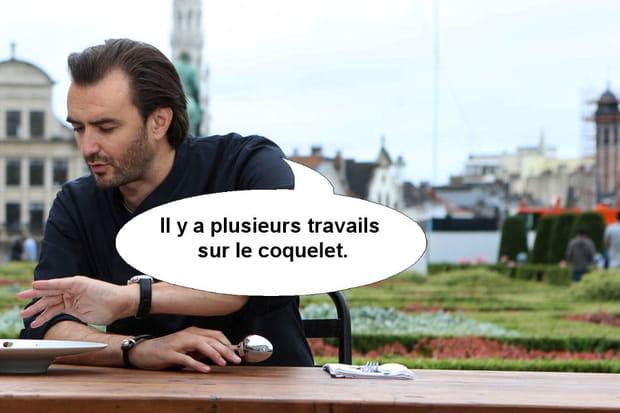 """Cyril Lignac: """"Il y a plusieurs travails sur le coquelet"""""""