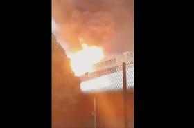 Incendie à Lyon: les images de l'explosion