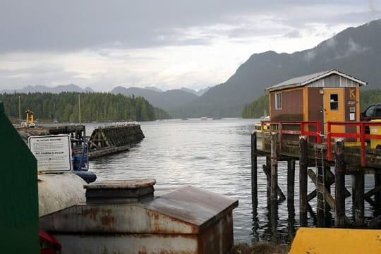 Cabane de pêcheur sur l'île Vancouver