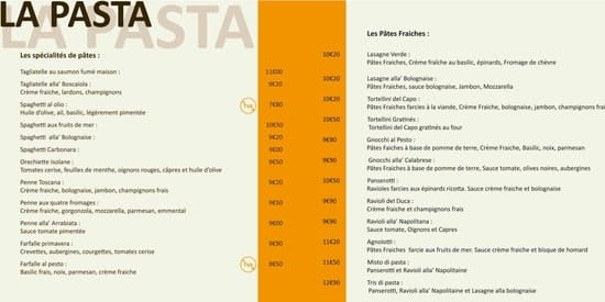La Scala  - Nos Pâtes -   © Propriétaire