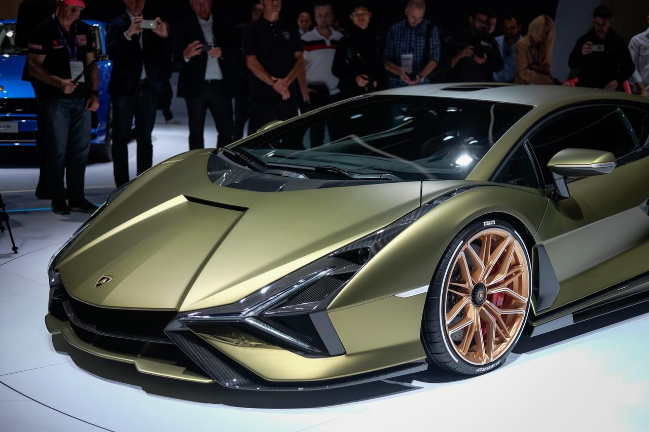 Lamborghini Sian: les photos de la supercar hybride au Salon de Francfort