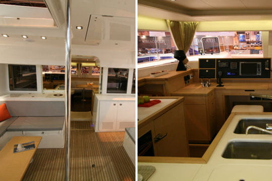 lagoon 400 un espace modulable. Black Bedroom Furniture Sets. Home Design Ideas