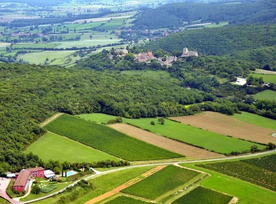 La Montagne de Brancion  - La Montagne de Brancion et le site médiéval de Brancion : vue aérienne -   © Jacques MILLION