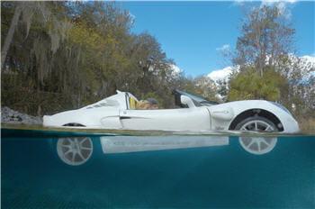 le véhicule rêvé pour une ballade romantique sur l'eau.