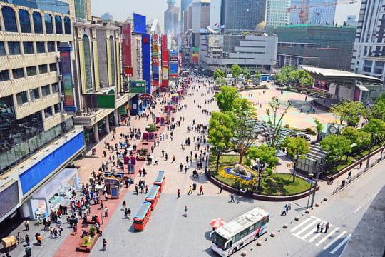 NanjingàShanghai,plusgrandeavenuecommerciale