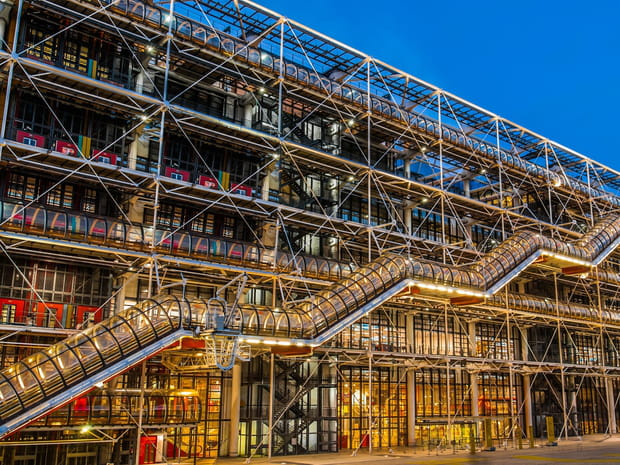 Centre Pompidou, l'ovni architectural en images