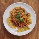 Plat : Au Chaperon Rouge  - Wok de légumes au sésame -   © ChefDLBZH