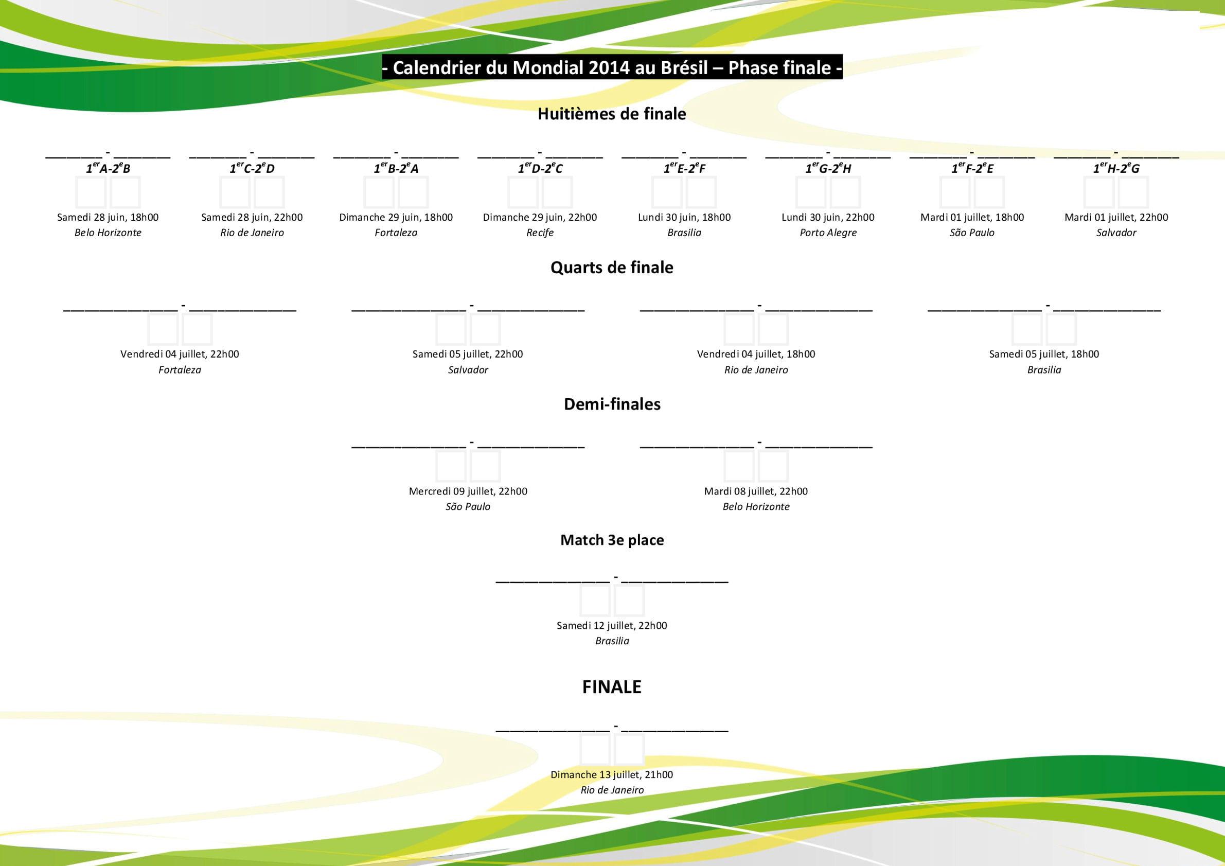Calendrier mondial 2014 le programme t l charger pdf - Calendrier coupe du monde 2014 ...