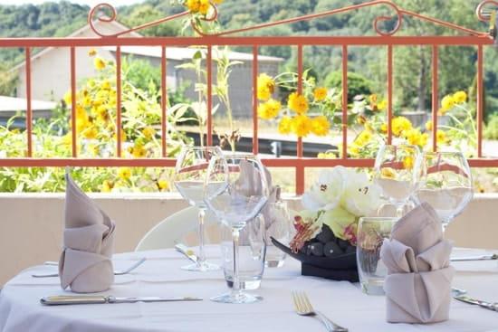 Au Bon Accueil  - Terrasse du restaurant gastronomique -   © Au Bon Accueil