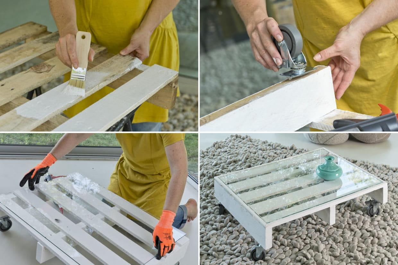 d couvrez comment transformer une palette en table basse. Black Bedroom Furniture Sets. Home Design Ideas