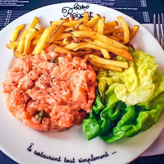 Plat : Bistro Régent  - notre tartare de saumon -   © jmp