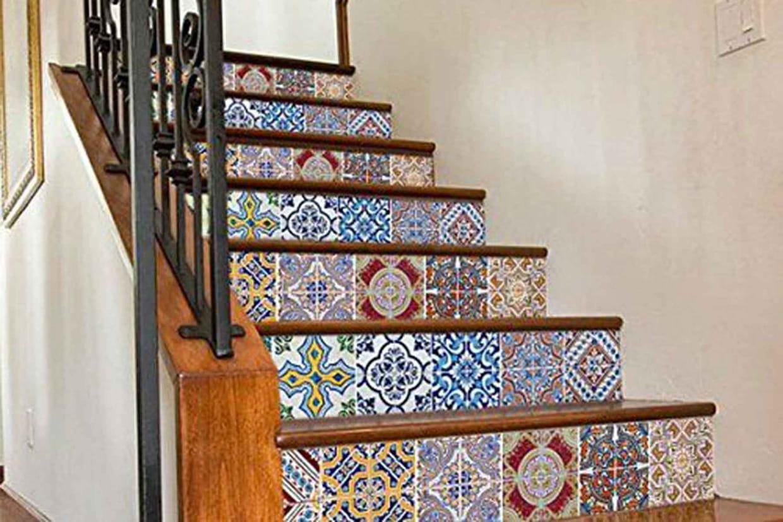Customiser Son Escalier Avec Du Carrelage Adhesif