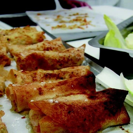 A l'Ecole de Cuisine  - Nems de volaille au foie gras -   © La Matière Vive