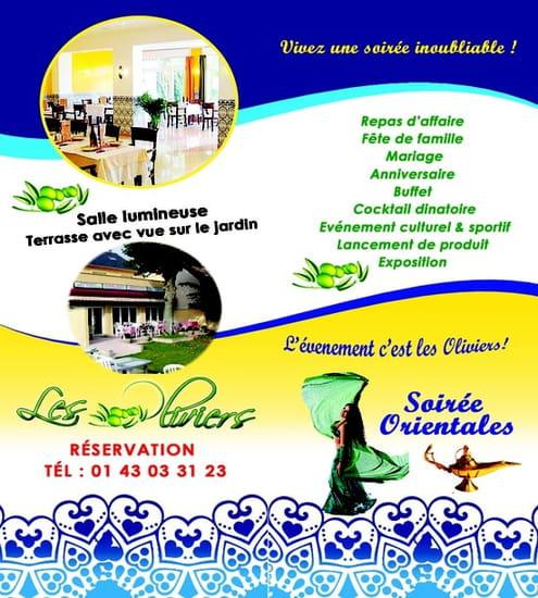 Restaurant les Oliviers  - flyer les oliviers -   © aouimeur kamel
