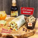 Plat : Tex A Way  - Menu muchito, tortillas chips et guacamole maison, muffin maison et bière mexicaine brune -   © #TEXAWAYOFLIFE