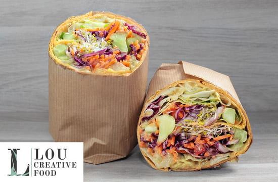 Plat : Lou Creative Food  - Des wraps aux recettes originales et très gourmands -   © Lou Creative Food