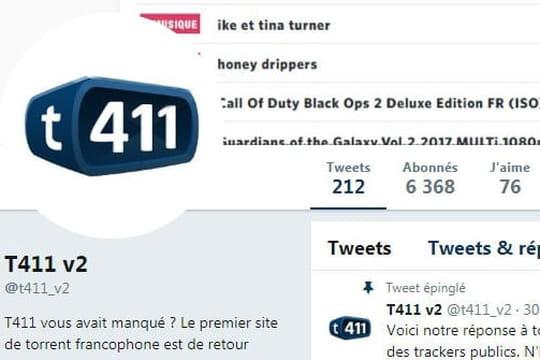 T411: ça y est, c'est donc (déjà) le grand retour du site pirate?