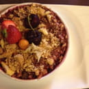 Dessert : Le Jardin Gourmand  - Crumble myrtille rhubarbe -