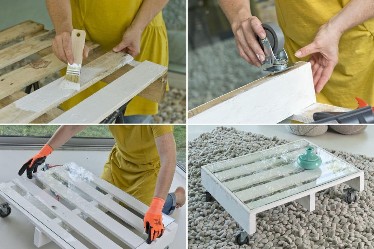 découvrez comment transformer une palette en table basse