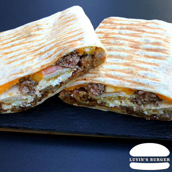 Plat : Luvin's Burger  - Tacos – Le 3 fromages -   © Luvin's Burger