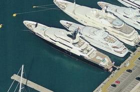 Yachts vus du ciel